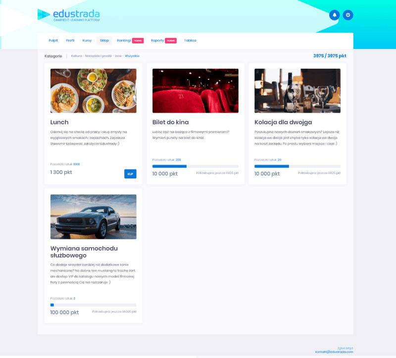 zgrywalizowana platforma edukacyjna Wirtualna Kafeteria